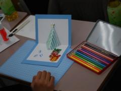 オープンスクール ~クリスマスカード作成~